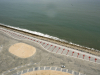 A view of a completed section of the Eko Atlantic Promenade atop The Great Wall of Lagos