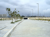 A section of completed road with landscaping in Eko Atlantic