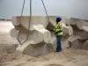 Lifting a five-ton Accropode