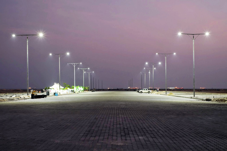 Eko Atlantic Dazzles with First Road Lighting