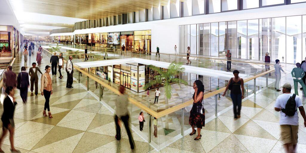 Eko Atlantic Shopping Mall central plaza