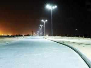 Eko Atlantic city plans model road networks