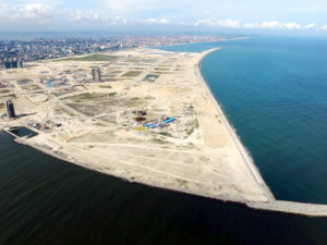 Eko Atlantic seen from the air