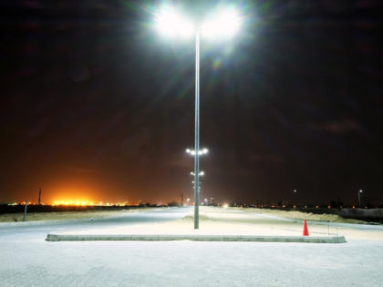 The first row of street lights along Avenue 1