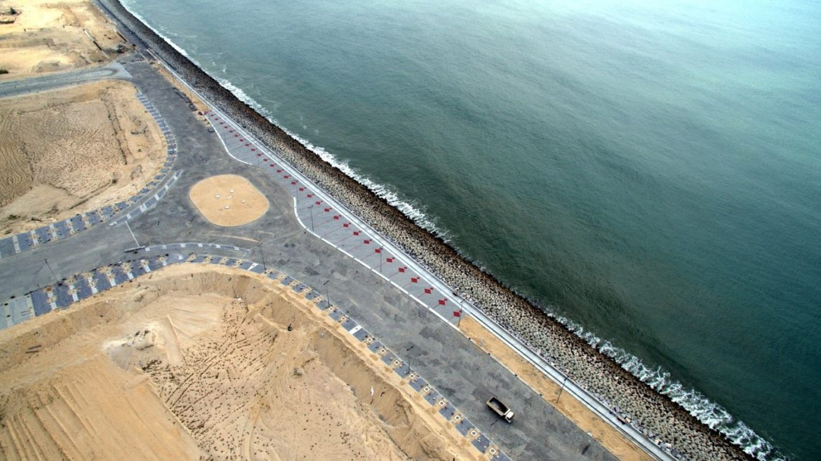 Eko Atlantic waterfront promenade